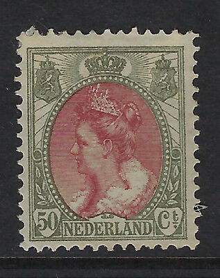 NETHERLANDS :1899 Queen Wilhelmina  50c lake & bronze-green SG 191 mint