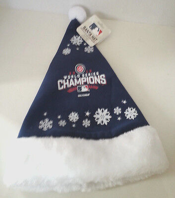 2016 Chicago Cubs Santa Hat World Series Champions Christmas Gift For A True Fan