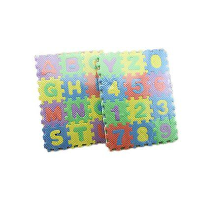 Baby Kids Alphanumeric Educational Puzzle Blocks Infant Child Toy Gift NEW