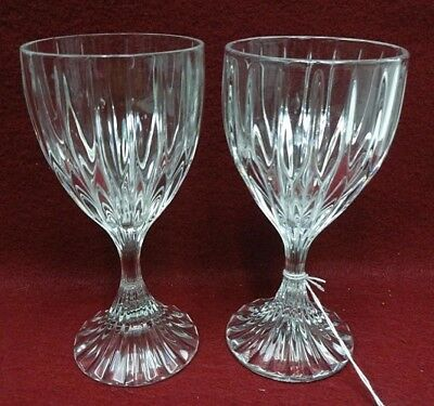 "MIKASA crystal PARK LANE SN101 pattern Wine 6-3/8"" set of 2!!"
