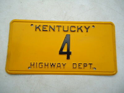 "Kentucky ""Highway Department"" license plate"
