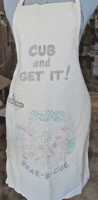 Vintage Gillette Tires BBQ Bear-B-Cue Chef Apron Div Of US Rubber Company