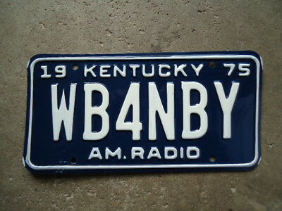 "1975 Kentucky ""Amateur Radio"" license plate"
