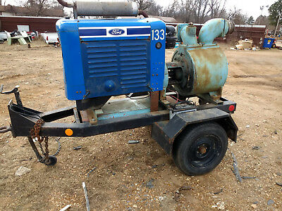 "6"" Towable CrownTrash Pump Ford Industrial Gas Powered RUNS GREAT"
