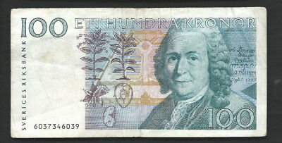 Sweden 1986 100 Kronor P 57a Circulated
