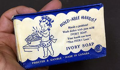 1940S Rare Vintage Sealed Ivory Large 8Oz Bar Soap Made In Canada Sealed Pkg. M
