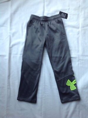 Boys Under Armour Logo Athletic Long Sweat Pants Gray Size 6 NWT