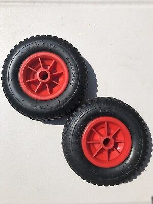 "2X Heavy Duty 8"" Pneumatic Sack Truck-Go Kart-Wheelbarrow Wheels (Pack Of 2)"