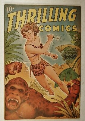 "Thrilling Comics #65 (Apr 1948, Pines) Princess Pantha ""Diamonds of Death!"""