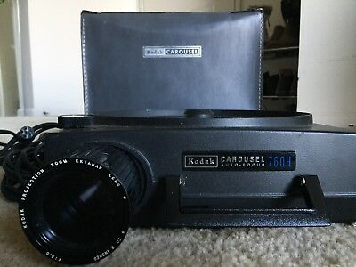 Vintage Kodak Carousel 750H Slide Projector - Tested & Working With Accessories