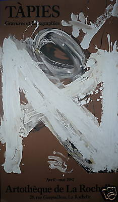 Tapies Antoni affiche lithographie art abstrait abstraction