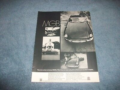 "1969 MGB Roadster Vintage Ad ""You See Only So Many MGB's"""
