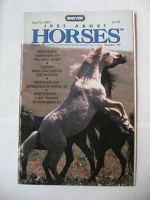 Breyer JAH Just About Horses Magazine Sept/Oct 2001 Volume 28 Number 5 CLOUD
