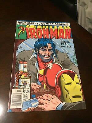 Iron Man 128 Demon In A Bottle Classic Alcoholism Cover Marvel No Reserve