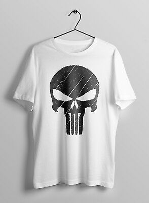 Punisher The Skull Screen Printed Body Fit T-Shirt MORE COLOURS Gym Bodybuilding