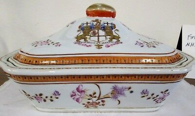 Armorial Chinese Antique Tureen Export Octagonal From Shrewsbury Museum Sale!