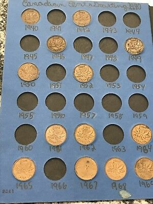 Partial Canadian Cent Collection