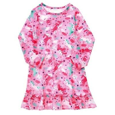 NWT Gymboree Pink Unicorns Long Sleeve Nightgown Pajamas Gown Large L 10 12