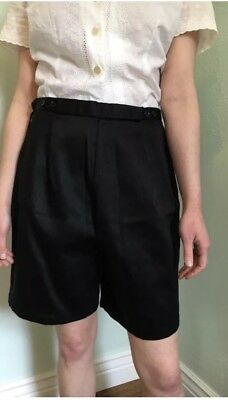 1950's Black High Waisted Shorts Pin Up Style
