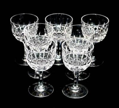 Vintage set of 7 Stuart crystal port or sherry glasses in lovely condition