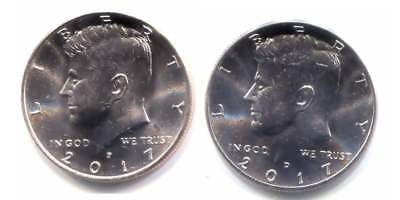 Kennedy 2017 P and D Two Coin Uncirculated Half Dollar Set - 50 Cent U.S. Coins