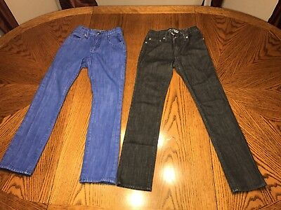 Lot Of 2: Gap 1969 Blue Jeans Slim Skinny Straight  Size 10 Youth