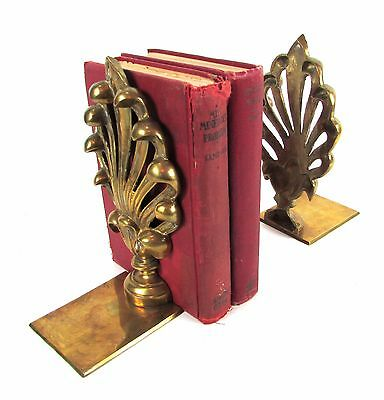 "Vintage Pair of Solid Brass "" FLEUR DE LIS "" New Orleans Style Bookends"