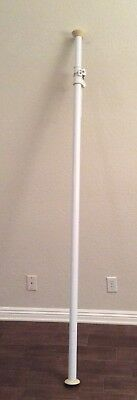 Used Single White Manfrotto AutoPole Photography Background Support 82 to 147 in