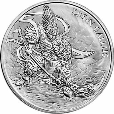 2017 1 oz Silver South Korean 1 Clay Zi:Sin Gallus BU