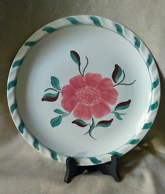 "Blue Ridge Southern Potteries Hand Painted Dinner Plate Floral 9.5"" Dia"