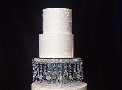 Crystal droplet Cake Stand  / separator - scroll to see video clip