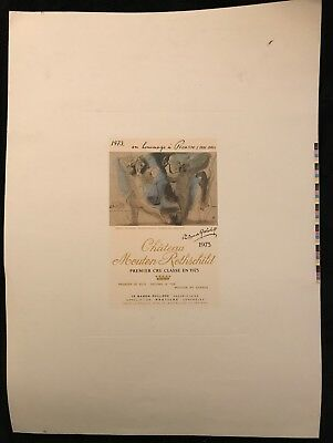 """Picasso  """"chateau Mouton Rothschild 1973"""""""