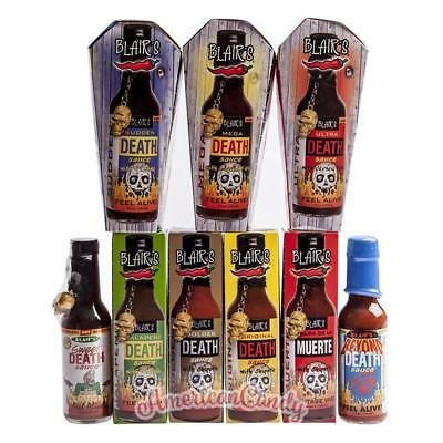 Thousands Scoville 3 Blair's Death Sauces > 8 Varieties Selection (8,89 €/