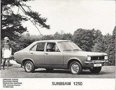 Sunbeam 1250 Four Door Saloon, Period Photograph.