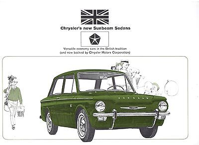 Chryslers New Sunbeam Imp & Minx Deluxe Sedans Brochure.