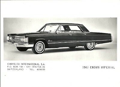 Chrysler 1967 Crown Imperial Period Press Photograph.
