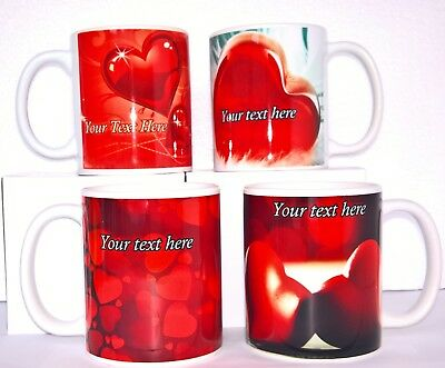 PERSONALISED GIFT MUG TEXT Birthday Love Mothers Valentines Fathers Women's Day
