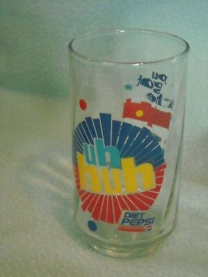 "1980s Diet Pepsi ""You Got the Right One Baby Uh-Huh"" Libbey Glass Vtg"