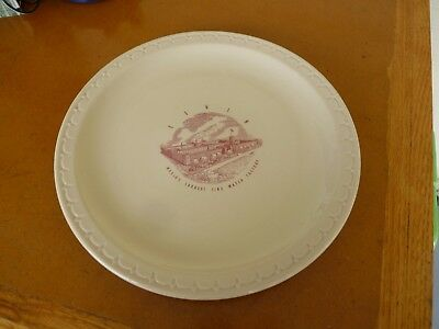 Rare Vintage Elgin Watch Factory Dining Room Plate Syracuse China