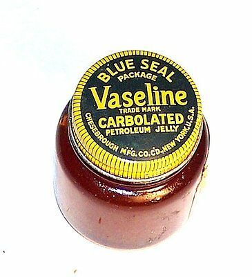 Vintage Vaseline Petroleum Jelly Lubricant Glass Jar Bottle NOS Ex Tin Can Ofr
