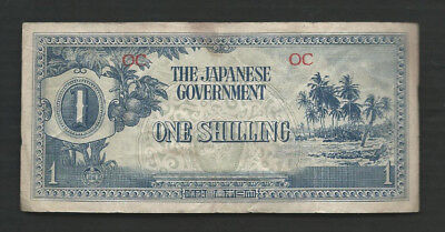 Oceania Japanese Government 1942 1 Shilling P 2 Circulated