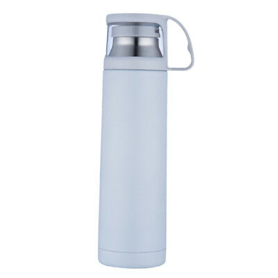 500ml Vacuum Insulated Flask Thermal Sports Water Bottle Hot/Cold White