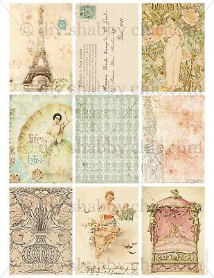 Furniture Decal Image Transfer Vintage Paris French Lady Pink Label Shabby Chic