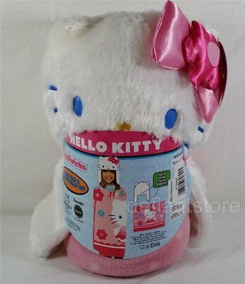 5ff858f14 Hello Kitty Cozy Hat & Throw Blanket Wrap Set - Pink by Sanrio NEW WITH TAGS