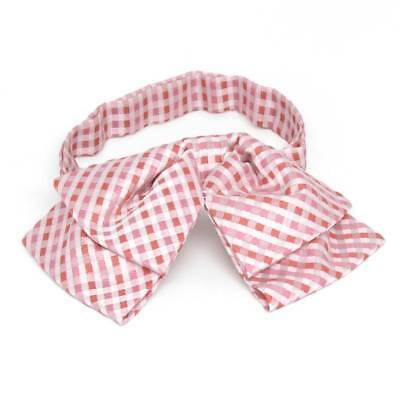 TieMart Perfect Pink George Plaid Floppy Bow Tie