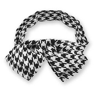 TieMart Children's Houndstooth Floppy Bow Tie