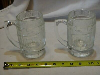 2 Dads Root Beer Heavy Clear Glass Barrel Mug