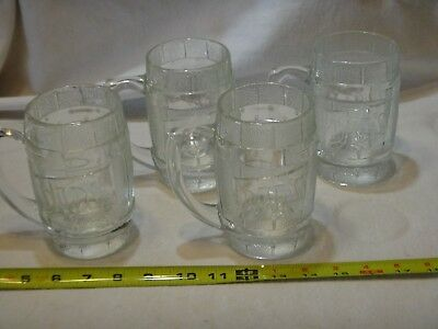 4 Dads Root Beer Heavy Clear Glass Barrel Mug
