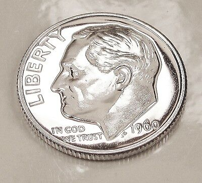 1960  Choice  Proof   Dime  90%  Silver  >Exact  Coin  Pictured <    #121  15