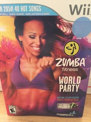 Zumba Fitness Join the Party Nintendo Wii Game Belt Included